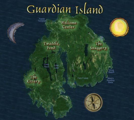 A map of Guardian Island